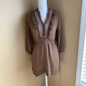 LOVE LIBERTY Johnny Was Mini Dress 100% Silk tunic